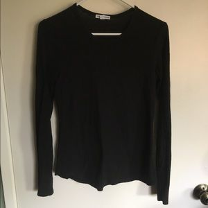 James Perse Black Long sleeve top Women Size 2